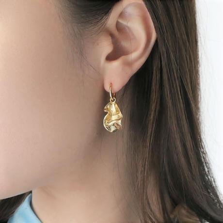 【BONVO】Flower hoop earrings