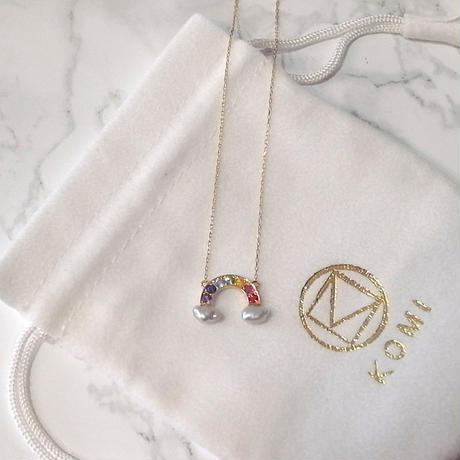【KOMI】K18 Rainbow Necklace