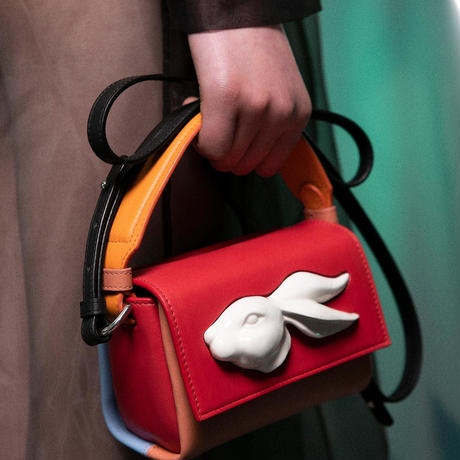 【ANDRESGALLARDO】 FLAP MINI RABBIT HEAD BAG マルチ