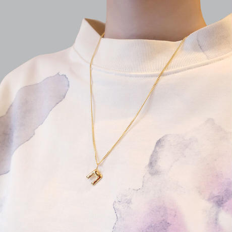 【Vibe Harsloef】Letter ネックレス 52cm