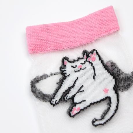 Cat Transparent くつした from Paris