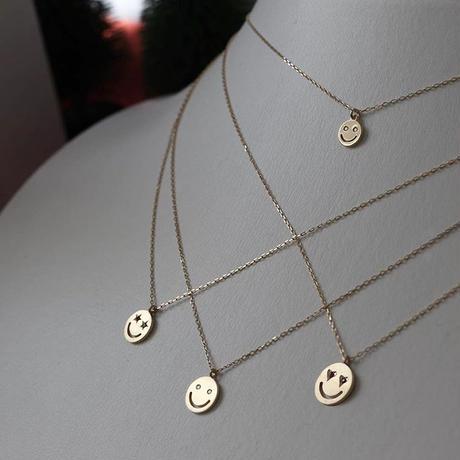 【KOMI】スマイルネックレス K18 ダイヤモンド