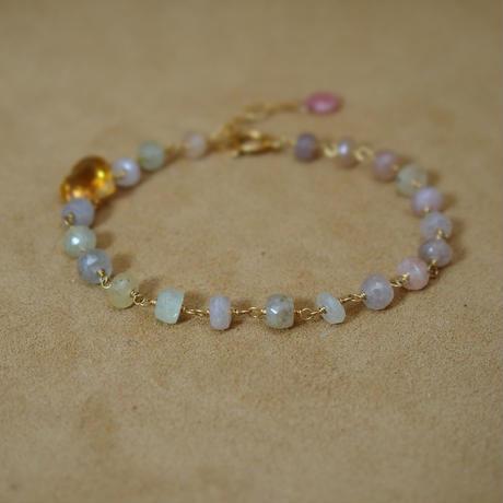 African Sapphire&Citrine Bracelet