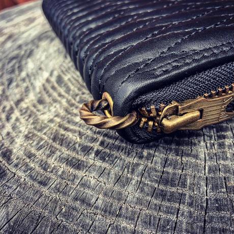 BACK DROP Leathers / ZIPWALLET(ツイストリング付き)