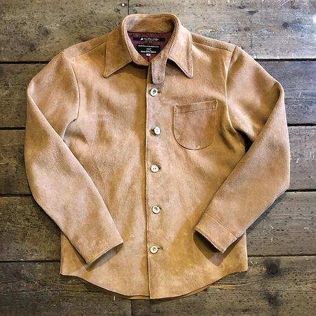 DEER HORN SMITH'S / EZO DEERLEATHER SHIRT (SUEDE TAN)
