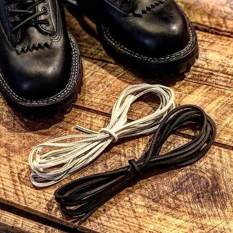 WHITES / LEATHER SHOE LACE(set)
