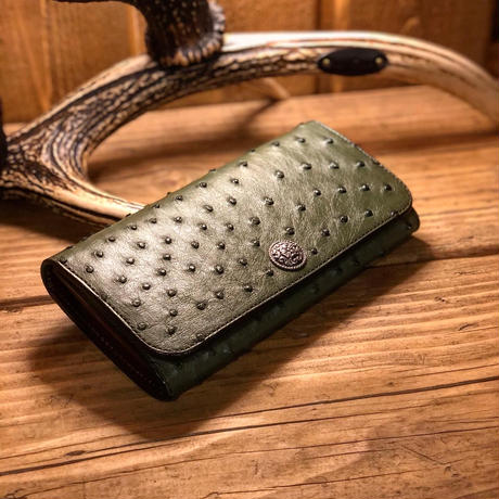 FUNNY / TRIFORD WALLET (OSTRICH)