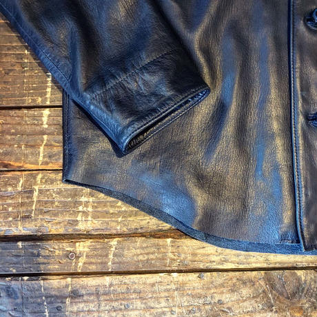 DEER HORN SMITHS / EZO DEER LEATHER SHIRTS(INDIGO)