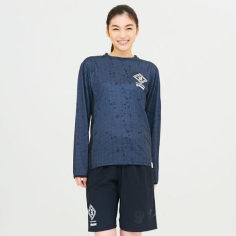 ナイトカモ レーザー メッシュ ロゴ ロングプラシャツ F-244