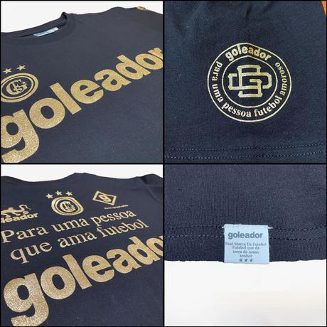 ALL Logos 銀/金 ラメプリント綿 Tシャツ G-2429