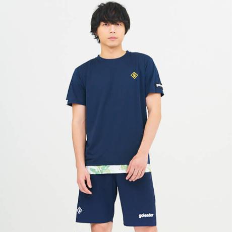 花柄 レイヤード プラシャツ F-261