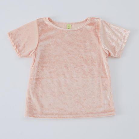 Sherbet pink クラッシュベロアTシャツ