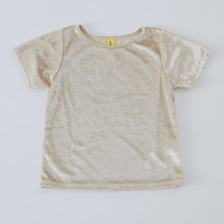 Silver  クラッシュベロアTシャツ
