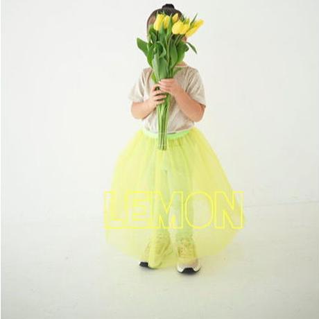 Lemon yellow  ネオンウエスト切替えチュールSK