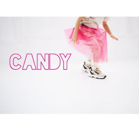 Candy pink カラーウエスト切替えチュールSK