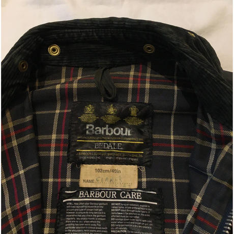 "80's  Barbour 3Crest ""Old Bedale"" 40"
