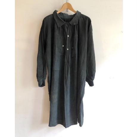 """1900's〜1910's Black Linen """"Biaud"""" Smock"""