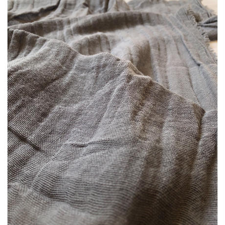 Sarah Simon Cotton Scarf  Hand made in France Grey