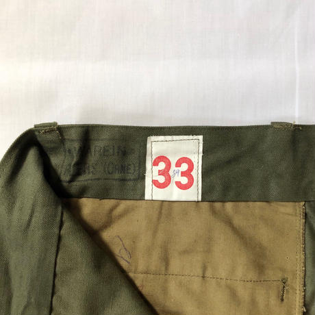 "60's French Army M47 Field Trousers Dead Stock ""33"""