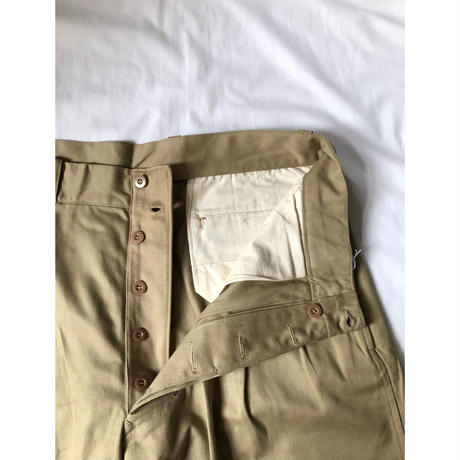 50's French Army Chino Shorts Dead Stock 4