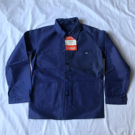 """60's Ink Blue Moleskin Coverall Dead Stock Made by """"BOTTON le CABLE""""/1"""