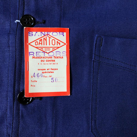 "40's Dead Stock Cotton Twill Workwear with Black Lacquer Button Made by ""DANTON""/2"
