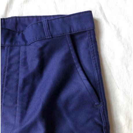 "60's ""Molinel"" Ink Blue Moleskin Trousers Dead Stock"