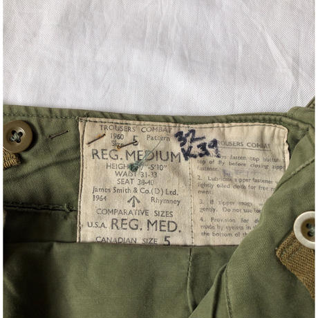 1964 Royal Army Combat Trousers 1960 Pattern