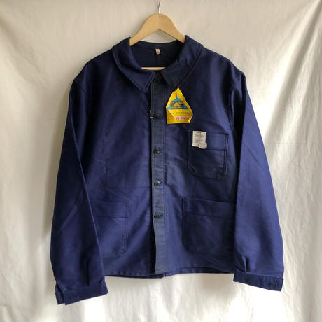 """50's/60's Ink Blue Moleskin Coverall Dead Stock Made by """"Le Mont St Michel"""""""