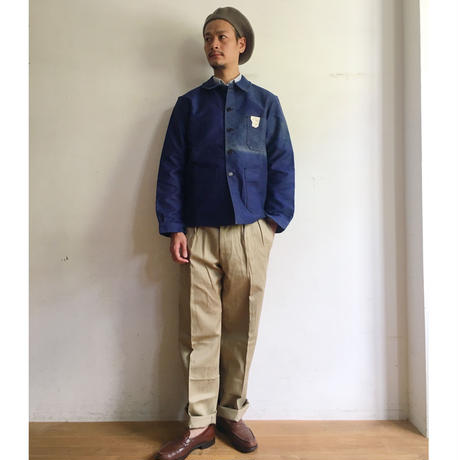 40's〜50's Le Mont St Michel Ink Blue Coverall Dead Stock