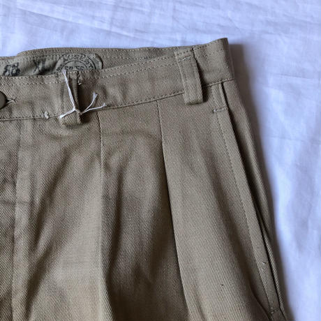 Early50's French Army M52 Chino Trousers Early Model Dead Stock/3