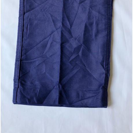 30's〜40's Ink Blue Moleskin Work Trousers With Back Cinch Dead Stock