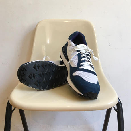 "VICTORY SPORTS WEAR ""Speed"" Navy Suede× White Mesh Made in USA"
