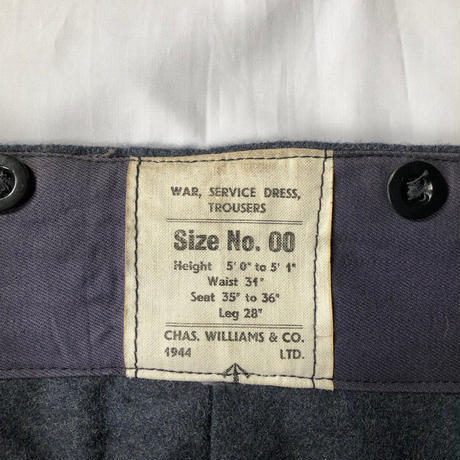 1944's Royal Air Force War Service Battle Dress Trousers Dead Stock