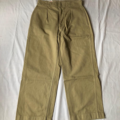 "50's French Army Chino Trousers ""33"""