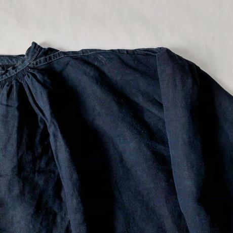 "〜1920's Black Indigo Linen Work Smock ""Biaude"""