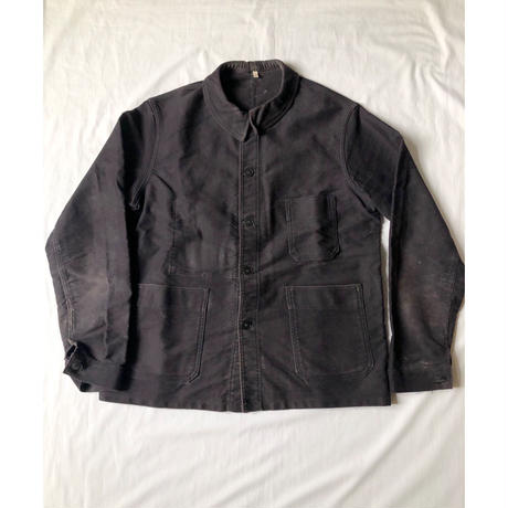 """50's Black Moleskin Coverall Made by """"Le Mont St Michel"""""""