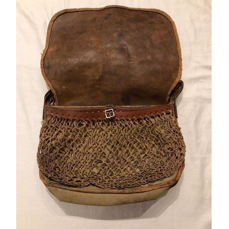 30's French Hunting Leather Bag/1