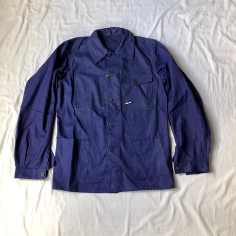 〜Later50's Cotton Twill Work Jacket with Flap pocket. Dead Stock