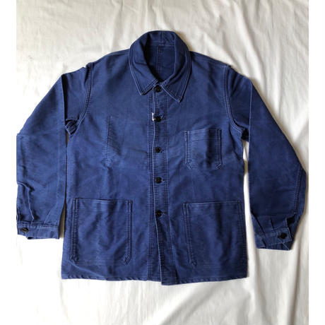 """50's Ink Blue Moleskin Coverall Made by """"KONECO"""""""