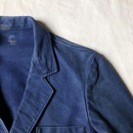 "Later40's/Early50's Ink Blue Moleskin Lapel Jacket Made by ""Dubure&Devercher"""