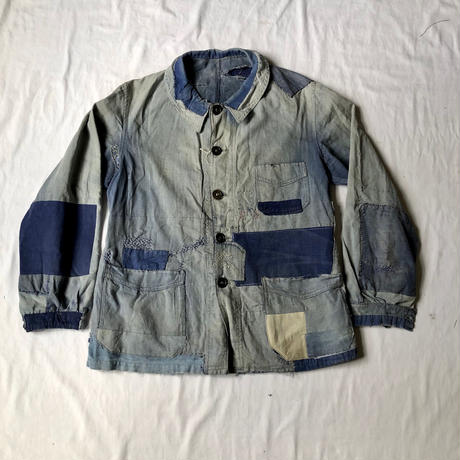 40's Lighter Cotton Coverall Hard Repaired and Remade