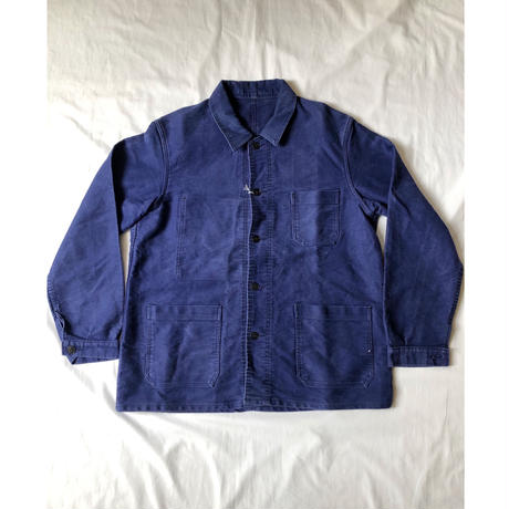 50's〜60's Ink Blue Moleskin Coverall.