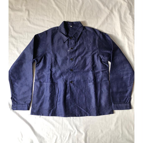 30's Ink Blue Lighter Moleskin Coverall Dead Stock