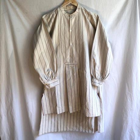 〜1930's Collarless Farmers Work Shirt Dead Stock/2