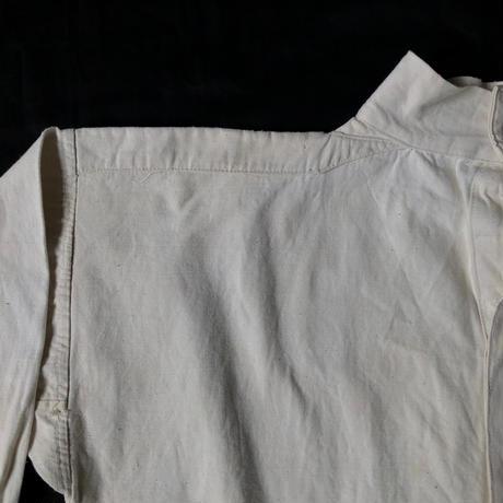〜1930's French Military White Cotton Twill Bourgeron Smock