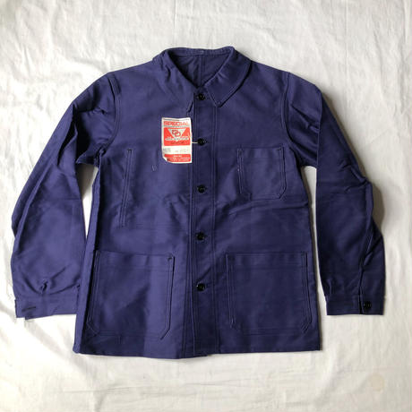 "50's Ink Blue Moleskin Coverall Dead Stock Made by ""Special Dubre&Deverchere"""