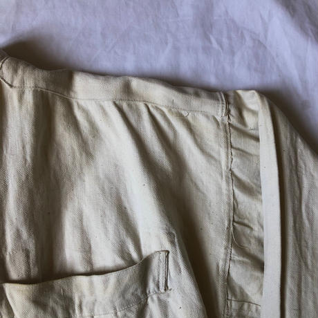 〜1930's French Military White HBT Linen Bourgeron Jacket