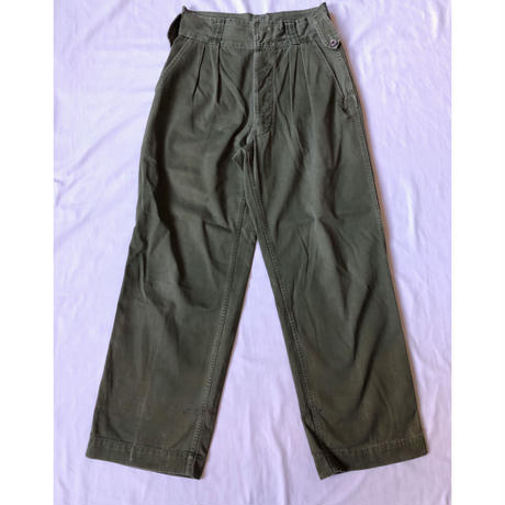 40's〜50's British Colony KD Trousers Jungle Pattern