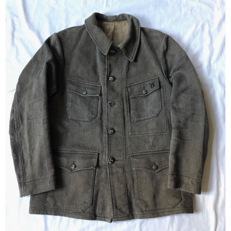 40's Animal Buttons Pique Hunting Jacket